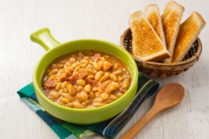 Caramelized Ham and Beans