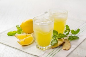 Mint and Lemon Ginger Ale