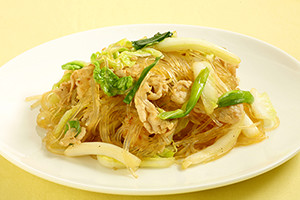 Stir fry Glass noodles with Cabbage300x200
