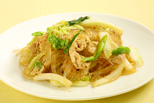Stir fry Glass noodles with Cabbage500x300